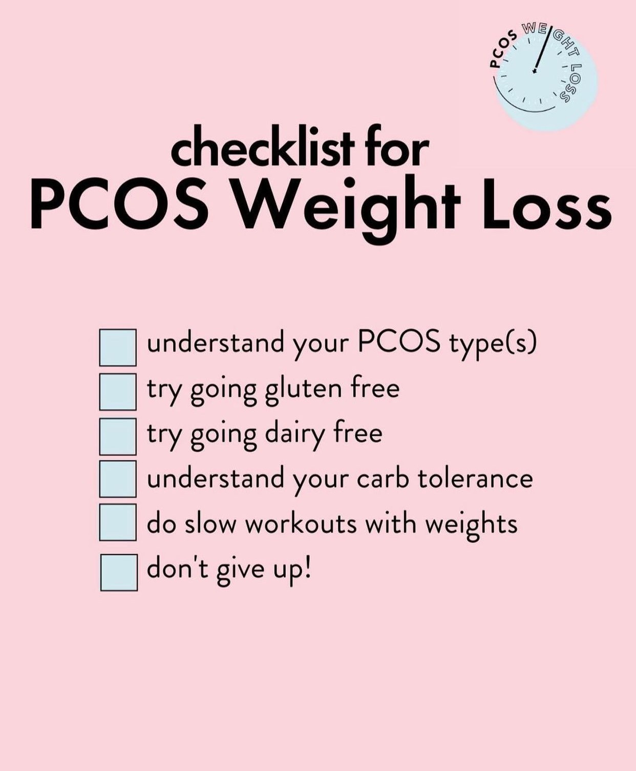 12 Tips to lose weight with PCOS